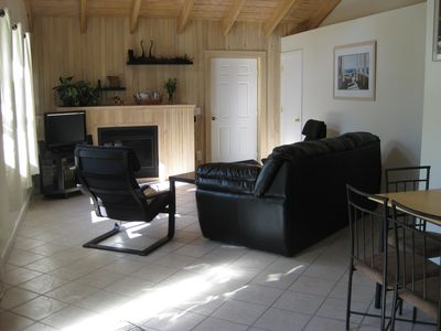 Living room with dining area shown