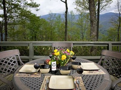 Photo for Hike, Explore, Relax and Enjoy Long Range Views Of Mt Mitchell from Front Deck