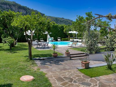 Photo for Villa Limoneto D with Shared Pool, Garden, Private Terrace and Parking