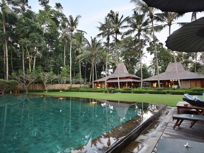 Photo for 4 bedrooms with tennis grass court, ubud