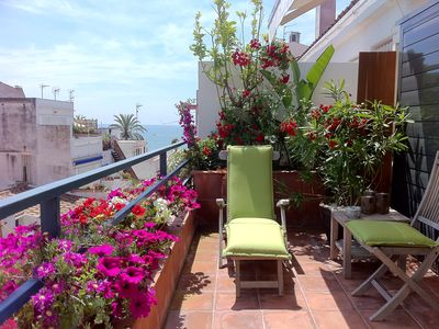 Photo for Superb duplex 3 terraces full downtown at 50m from the sea