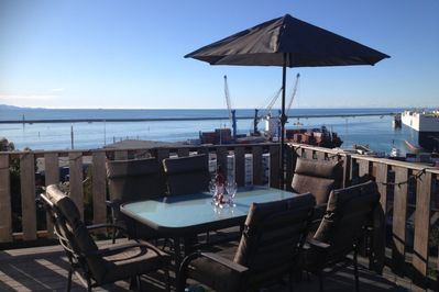 Large deck...perfect for relaxing and enjoying the views