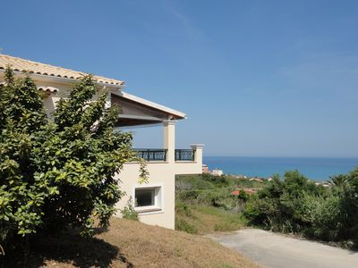 Photo for Beautiful 3 bedroom villa with sea views from all rooms, Agios Stefanos NW Corfu