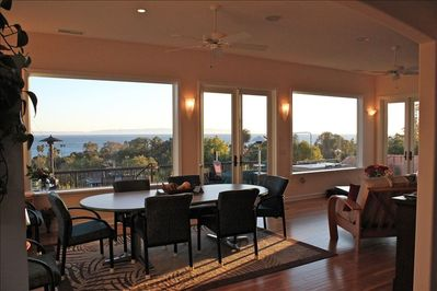 New Great Room showcasing ocean views & excellent dining gathering spot.