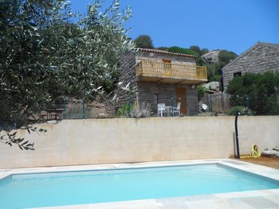 Photo for House all stones in the maquis, private heated pool, wifi