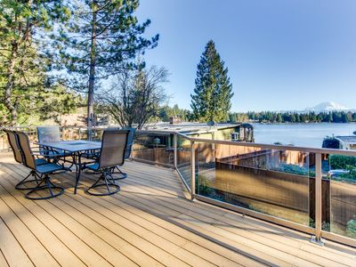 Photo for Spacious, welcoming lakefront home with bikes and kayaks, peaceful surroundings!