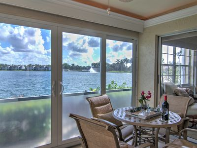 Photo for **Lake View Villa with a 1 Car Garage, 2 Bedrooms in Lakeside of Naples, Fl**