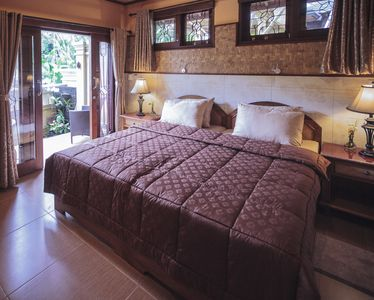 Photo for Quiet, Luxury Sawo Apartment 1 at Murni's Houses and Spa, Ubud, Bali
