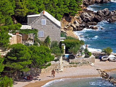 Photo for Perfect Beachfront Holiday In a Secluded Traditional Stone House With Pool