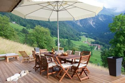 Al Fresco meal with a view! Generous  60m sq entertaining terrace with gas bbq