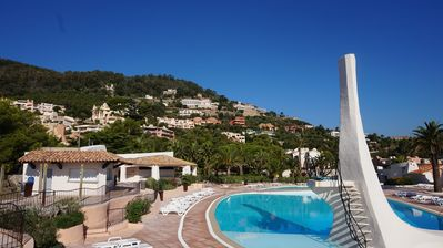 Photo for sea ​​view Apartment Direct access private beach, swimming pools, sauna, hammam, tennis etc.