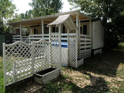 Photo for Cap Sud Var - Camping 4 * Saint Aygulf - Mobil Home Conditioning 3 Rooms 4 Persons