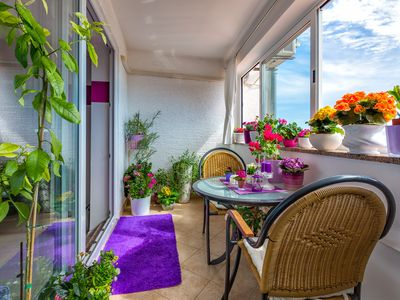 Photo for Tian apartment in Mali Losinj with WiFi, air conditioning, private parking & balcony.