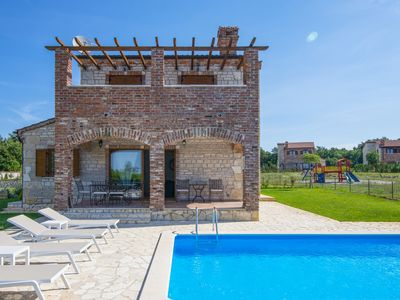 Photo for Villa Paradis 14 with Pool, 4 bedrooms, green yard, shared Tennis court