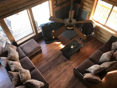 Photo for Pet friendly cabin with beautiful views! Enjoy the crisp mountain air from your deck while you BBQ,