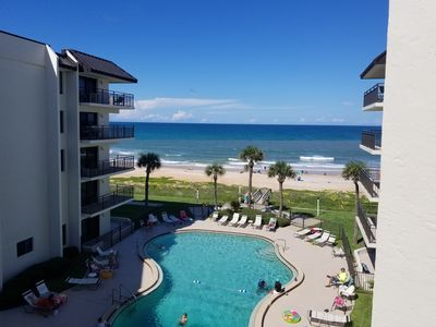 Photo for Beautiful condo directly on the ocean in Ormond By the Sea