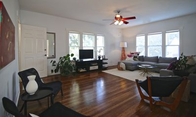 Photo for Live like a local! Bright, stylish, spacious. Location!! Gated duplex w/ parking