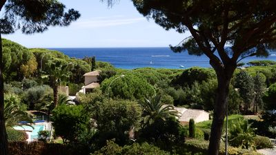 Photo for rent apartment 4/5 people Sainte Maxime covered terrace sea view