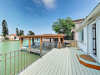 Photo for Waterfront Haven w/ Uncovered Boat Slip, Deck & BBQ Grill, 5 Miles to Beach