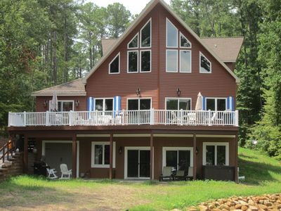 Photo for Tropical Paradise on Lake Gaston Boathouse/Kayaks/Paddle boards. Pets Welcome!
