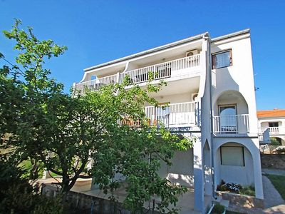 Photo for Two bedroom apartment with terrace Banjol (Rab) (A-11381-d)