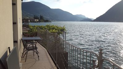 Photo for Sale Marasino: directly on the lake with lovely views of Monte Isola