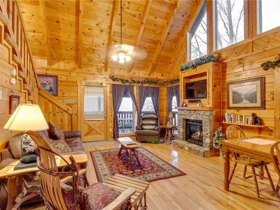 Photo for Do Not Disturb | Mountain & Wooded Views | Hot Tub | Outdoor Fireplace | Game Room| Wi-Fi
