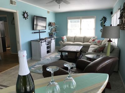 Photo for Lovely 3 bedroom 2 bathroom beach cottage-Two blocks from beach/boardwalk