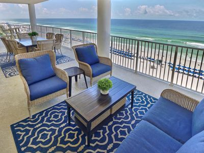 Photo for Newly updated 4/4 - Amazing beachfront sunset views. Spacious gulf front deck