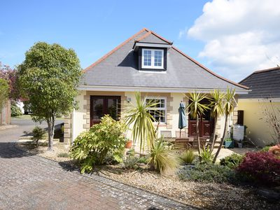 Photo for Chalet bungalow in quiet location near Solent shore & Yarmouth, garden & parking