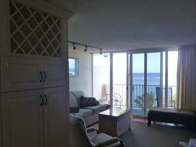 Photo for Large renovated one bedroom on quiet sandy beach available for month long rental