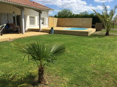 Photo for Detached house with pool in Tosse, South Landes.