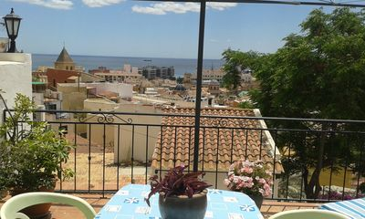 Photo for 2 terraced house with heating /AC great views in  central and traditional area
