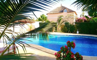 Photo for VILLA OF REVE A SMALL PRICE. DIRECT ACCESS TO BEAUTIFUL SWIMMING POOL 18X11, BEACH 300 M