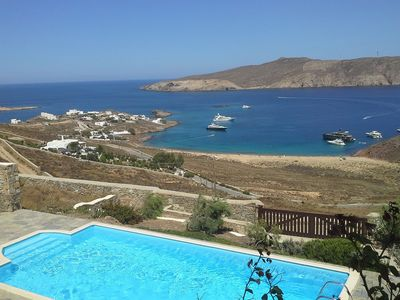 Photo for Villa Aqua above Agios Sostis beach, with swimming pool, 5 bedrooms, it can accommodate up to 10 peo