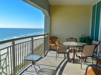 Photo for 3 Bedroom 3 Bath Oceanfront condo with an Outdoor pool, indoor pool, lazy river, fitness center!