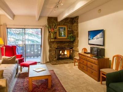 Photo for Villa Cortina 1-Bedroom 2-Bath Condo in Vail Village (Less Than Hotel Room)