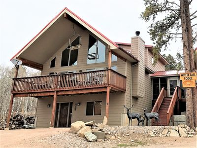 Photo for Large Cabin close to Deadwood/ATV trails, A/C, Hot tub, Wi-Fi, foosball!