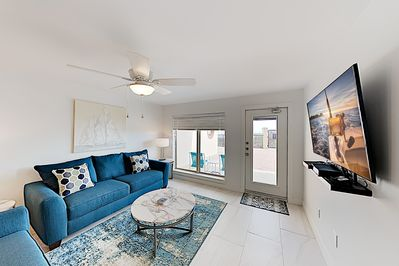 Living Room - Welcome to South Padre Island! This condo is professionally managed by TurnKey Vacation Rentals.