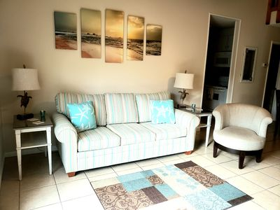 Photo for Charming 2bd/2bath, Sleeps up to 8, Only steps from PCB. Ground floor unit