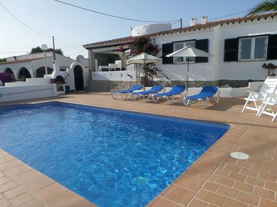 Photo for 3 Bedroom Air-conditioned Villa With Private Heated Pool And Sea Views