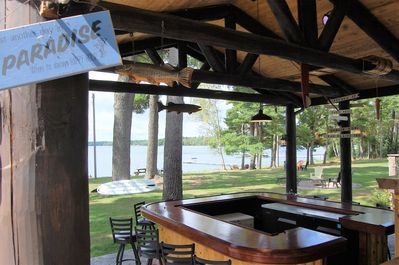 "lakeside bar! its AWESOME featured on discovery channel ""epic bar builds"""