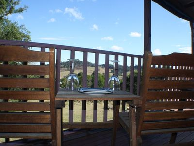 Photo for Available long weekend charming couples retreat- spa bath, firepit, BBQ, views.