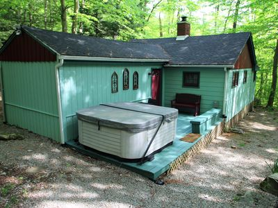 Photo for Private Year Round Getaway wit Hot Tub--Minutes from Ski Resorts