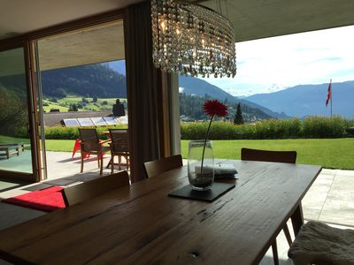 Photo for Flims/fantastic view / high value facility /ski in/out /terrace/family friendly