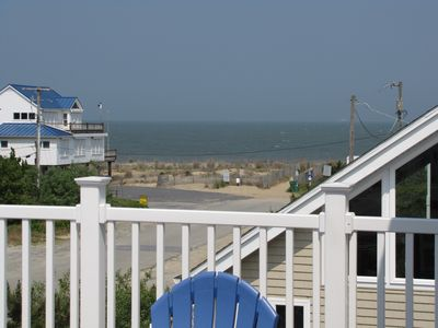 View from Front Deck shows it is Just Steps to the Beach