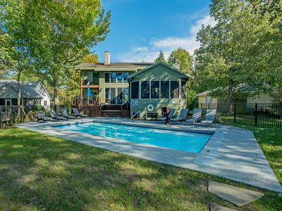 Photo for SPACIOUS LAKE MICHIGAN RETREAT WITH HEATED IN-GROUND POOL SLEEPS 14