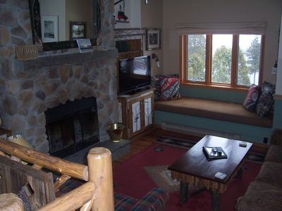 Another view of our living room, with a nice sitting area overlooking the lake!