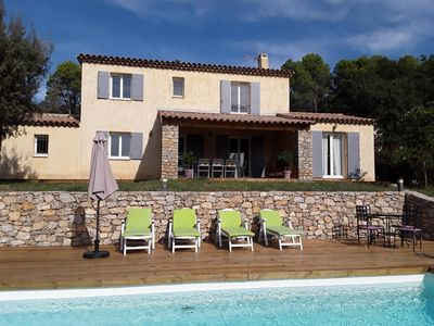 Photo for Detached house 5 bedrooms, quiet area, private pool, great kids!