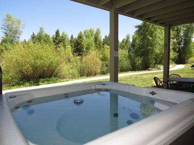 Photo for On River- Hot Tub, Garage. Walk to Rec Path. Easy Drive to Activities, Dining